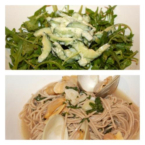clampasta & arugula salad
